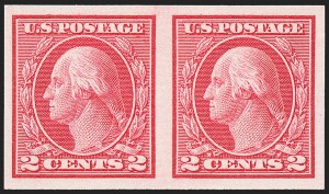 Sale Number 1221, Lot Number 1503, 1912-20 Washington-Franklin Issues (Scott 405-544)2c Carmine, Ty. I, Imperforate Coil (459), 2c Carmine, Ty. I, Imperforate Coil (459)