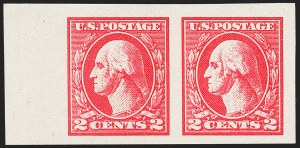 Sale Number 1221, Lot Number 1525, 1912-20 Washington-Franklin Issues (Scott 405-544)2c Carmine, Ty. V, Imperforate (533), 2c Carmine, Ty. V, Imperforate (533)
