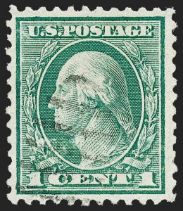 Sale Number 1221, Lot Number 1531, 1912-20 Washington-Franklin Issues (Scott 405-544)1c Green, Rotary Perf 11 (544), 1c Green, Rotary Perf 11 (544)