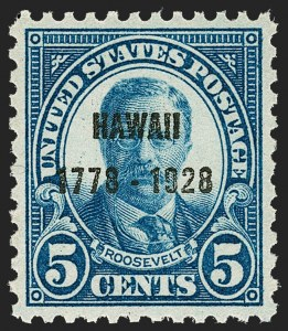 Sale Number 1221, Lot Number 1546, 1922 and Later Issues5c Hawaii Ovpt. (648), 5c Hawaii Ovpt. (648)