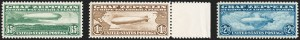 Sale Number 1221, Lot Number 1582, Air Post65c-$2.60 Graf Zeppelin (C13-C15), 65c-$2.60 Graf Zeppelin (C13-C15)