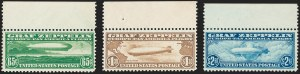 Sale Number 1221, Lot Number 1583, Air Post65c-$2.60 Graf Zeppelin (C13-C15), 65c-$2.60 Graf Zeppelin (C13-C15)