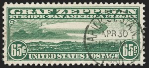 Sale Number 1221, Lot Number 1590, Air Post65c Graf Zeppelin (C13), 65c Graf Zeppelin (C13)