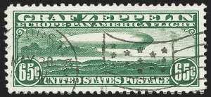 Sale Number 1221, Lot Number 1591, Air Post65c Graf Zeppelin (C13), 65c Graf Zeppelin (C13)