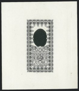 Sale Number 1221, Lot Number 1721, Revenues, Essays and Proofs$1.00 Black, Intaglio Impression Die Essay on Ivory Paper (Turner Essay 26-B), $1.00 Black, Intaglio Impression Die Essay on Ivory Paper (Turner Essay 26-B)
