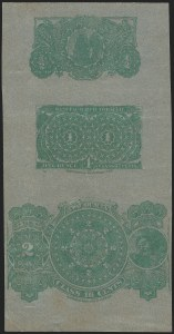 Sale Number 1221, Lot Number 1729, Revenues, Essays and ProofsSeries 1868, Tax-Paid Tobacco, Composite Proof on Silver Surface-Colored Paper (Hicks 3), Series 1868, Tax-Paid Tobacco, Composite Proof on Silver Surface-Colored Paper (Hicks 3)