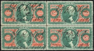 Sale Number 1221, Lot Number 1752, Revenues, First Issue$200.00 U.S.I.R., Perforated (R102c), $200.00 U.S.I.R., Perforated (R102c)