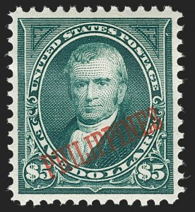 Sale Number 1221, Lot Number 1832, U.S. PossessionsPHILIPPINES, 1899-1901, 1c-$5.00 Ovpts. (213/225), PHILIPPINES, 1899-1901, 1c-$5.00 Ovpts. (213/225)