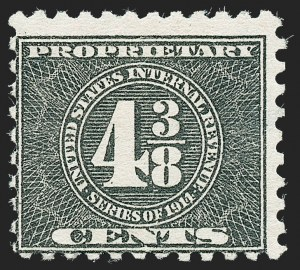 Sale Number 1222, Lot Number 2089, Proprietary (RB)4-3/8c Black, 1914 Issue, Proprietary (RB42), 4-3/8c Black, 1914 Issue, Proprietary (RB42)