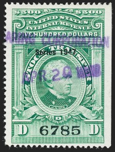 "Sale Number 1222, Lot Number 2092, Stock Transfer (RD)$500.00 Bright Green, ""Series 1947"" Ovpt., Stock Transfer (RD256), $500.00 Bright Green, ""Series 1947"" Ovpt., Stock Transfer (RD256)"
