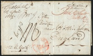 Sale Number 1223, Lot Number 8026, Transatlantic Stampless, Ship Mail(Guelph, Canada, to England, 1839) Freight Money Letter, (Guelph, Canada, to England, 1839) Freight Money Letter