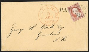 Sale Number 1223, Lot Number 8140, 1851-56 Issue3c Dull Red, Ty. II (11A), 3c Dull Red, Ty. II (11A)