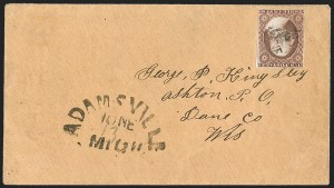 Sale Number 1223, Lot Number 8141, 1851-56 Issue3c Brownish Carmine, Ty. I (11), 3c Brownish Carmine, Ty. I (11)