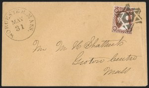 Sale Number 1223, Lot Number 8145, 1851-56 Issue3c Brownish Carmine, Ty. II (11A), 3c Brownish Carmine, Ty. II (11A)