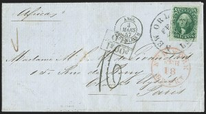 Sale Number 1223, Lot Number 8149, 1851-56 Issue10c Green, Ty. II (14), 10c Green, Ty. II (14)