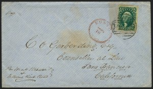 Sale Number 1223, Lot Number 8166, 1857-60 Issue10c Green, Ty. II (32), 10c Green, Ty. II (32)