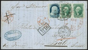 Sale Number 1223, Lot Number 8168, 1857-60 Issue10c Green, Ty. V (35), 10c Green, Ty. V (35)