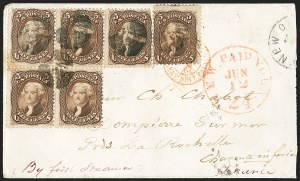 Sale Number 1223, Lot Number 8201, 1861-68 Issues5c Brown (76), 5c Brown (76)