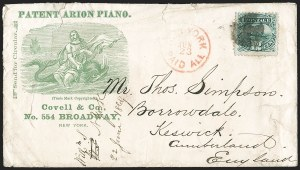 Sale Number 1223, Lot Number 8226, 1869 Pictorial Issue12c Green (117), 12c Green (117)