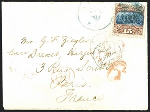Sale Number 1223, Lot Number 8229, 1869 Pictorial Issue15c Brown & Blue, Ty. II (119), 15c Brown & Blue, Ty. II (119)