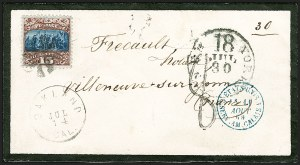 Sale Number 1223, Lot Number 8230A, 1869 Pictorial Issue15c Brown & Blue, Ty. II (119), 15c Brown & Blue, Ty. II (119)