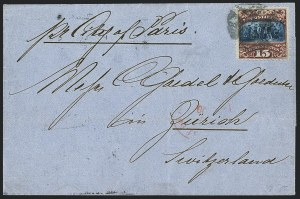 Sale Number 1223, Lot Number 8231, 1869 Pictorial Issue15c Brown & Blue, Ty. II (119), 15c Brown & Blue, Ty. II (119)