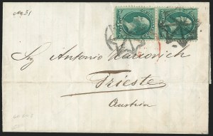 Sale Number 1223, Lot Number 8275, 1870-88 Bank Note Issues3c Green (158), 3c Green (158)