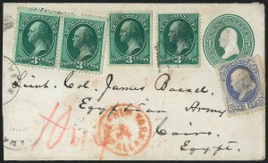 Sale Number 1223, Lot Number 8280, 1870-88 Bank Note Issues1c Ultramarine, 3c Green (156, 158), 1c Ultramarine, 3c Green (156, 158)