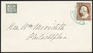 Sale Number 1223, Lot Number 8347, General Carrier and City Carrier IssuesHonour's City Post, Charleston S.C., 2c Black on Bluish (4LB8), Honour's City Post, Charleston S.C., 2c Black on Bluish (4LB8)
