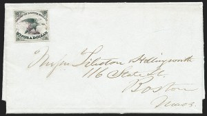 Sale Number 1223, Lot Number 8352, 1844-45 Independent MailsAmerican Letter Mail Co., 5c Black (5L1), American Letter Mail Co., 5c Black (5L1)
