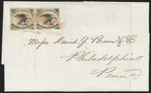 Sale Number 1223, Lot Number 8353, 1844-45 Independent MailsAmerican Letter Mail Co., 5c Black (5L1), American Letter Mail Co., 5c Black (5L1)