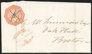 Sale Number 1223, Lot Number 8357, 1844-45 Independent MailsHale & Co., 5c Red on Bluish (75L2), Hale & Co., 5c Red on Bluish (75L2)