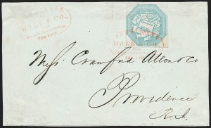 Sale Number 1223, Lot Number 8358, 1844-45 Independent MailsHale & Co., 5c Blue, Street Address Omitted (75L5), Hale & Co., 5c Blue, Street Address Omitted (75L5)