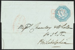 Sale Number 1223, Lot Number 8359, 1844-45 Independent MailsHale & Co., 5c Blue, Street Address Omitted (75L5), Hale & Co., 5c Blue, Street Address Omitted (75L5)