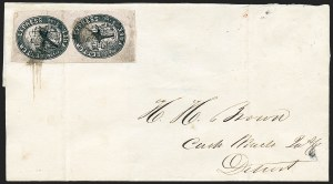 Sale Number 1223, Lot Number 8361, 1844-45 Independent MailsLetter Express (Wells), 5c Black on Pink Glazed (96L1), Letter Express (Wells), 5c Black on Pink Glazed (96L1)