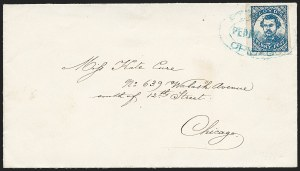 Sale Number 1223, Lot Number 8391, Local PostsFloyd's Penny Post, Chicago Ill., (1c) Blue (68L1), Floyd's Penny Post, Chicago Ill., (1c) Blue (68L1)