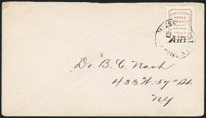Sale Number 1223, Lot Number 8395, Local PostsHussey's Post, New York N.Y., Cover Collection (87L9/87L74), Hussey's Post, New York N.Y., Cover Collection (87L9/87L74)
