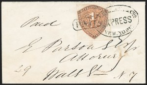 Sale Number 1223, Lot Number 8396, Local PostsMetropolitan Errand and Carrier Express Co., New York N.Y., 1c Red Orange (107L1), Metropolitan Errand and Carrier Express Co., New York N.Y., 1c Red Orange (107L1)