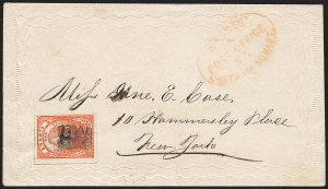 Sale Number 1223, Lot Number 8400, Local PostsSwarts' City Dispatch Post, New York N.Y., (2c) Light Red on Wove (136L4), Swarts' City Dispatch Post, New York N.Y., (2c) Light Red on Wove (136L4)