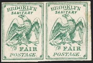 Sale Number 1223, Lot Number 8494, Sanitary FairsBrooklyn and Long Island Sanitary Fair, (15c) Green (WV4), Brooklyn and Long Island Sanitary Fair, (15c) Green (WV4)