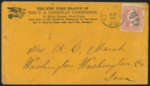 Sale Number 1223, Lot Number 8501, Sanitary FairsU.S. Sanitary and Christian Commissions, 3c Rose, Cover Collection (65), U.S. Sanitary and Christian Commissions, 3c Rose, Cover Collection (65)