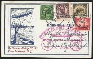 Sale Number 1223, Lot Number 8569, 20th Century and Air Post Covers1928, Return to America Graf Zeppelin Flight (Sieger 22A), 1928, Return to America Graf Zeppelin Flight (Sieger 22A)