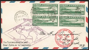 Sale Number 1223, Lot Number 8571, 20th Century and Air Post Covers65c Graf Zeppelin (C13), 65c Graf Zeppelin (C13)