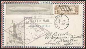 Sale Number 1223, Lot Number 8573, 20th Century and Air Post Covers$1.30 Graf Zeppelin (C14), $1.30 Graf Zeppelin (C14)