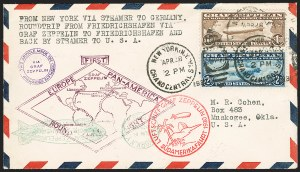 Sale Number 1223, Lot Number 8575, 20th Century and Air Post Covers$1.30-$2.60 Graf Zeppelin (C14-C15), $1.30-$2.60 Graf Zeppelin (C14-C15)