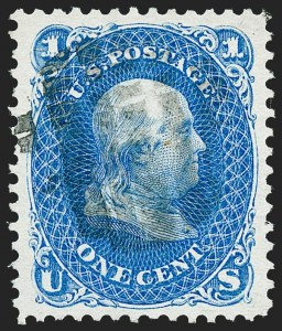 Sale Number 1224, Lot Number 107, 1875 Re-Issue of 1861-66 Issue1c Blue, Re-Issue (102), 1c Blue, Re-Issue (102)