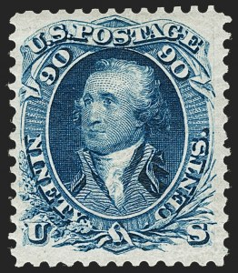 Sale Number 1224, Lot Number 109, 1875 Re-Issue of 1861-66 Issue90c Blue, Re-Issue (111), 90c Blue, Re-Issue (111)