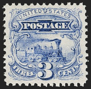 Sale Number 1224, Lot Number 114, 1869 Pictorial Issue3c Ultramarine (114). Mint N.H, 3c Ultramarine (114). Mint N.H
