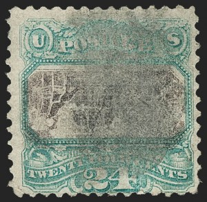 Sale Number 1224, Lot Number 127, 1869 Pictorial Issue24c Green & Violet, Center Inverted (120b), 24c Green & Violet, Center Inverted (120b)