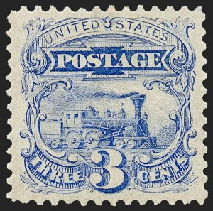 Sale Number 1224, Lot Number 134, 1875 Re-Issue of 1869 Pictorial Issue3c Blue, Re-Issue (125), 3c Blue, Re-Issue (125)